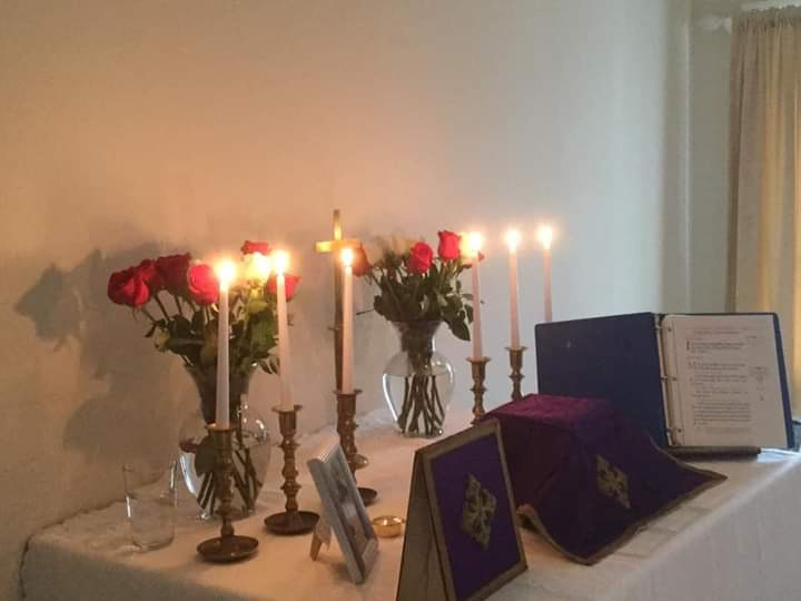 St Christopher Advent altar